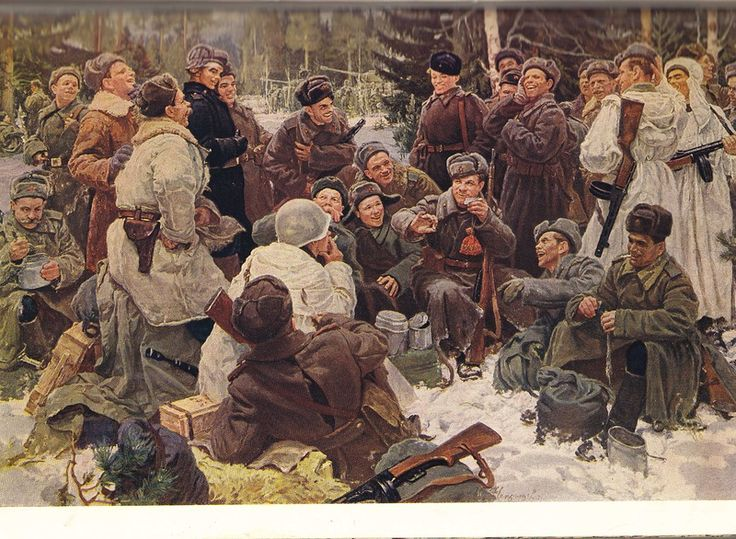 kid_book_museum: Детский календарь на 1953 год [Russians knew how to stay warm outdoors in winter!  Smart!]