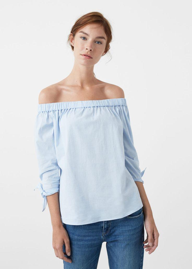 Off shoulder blouse -  Woman | MANGO United Kingdom