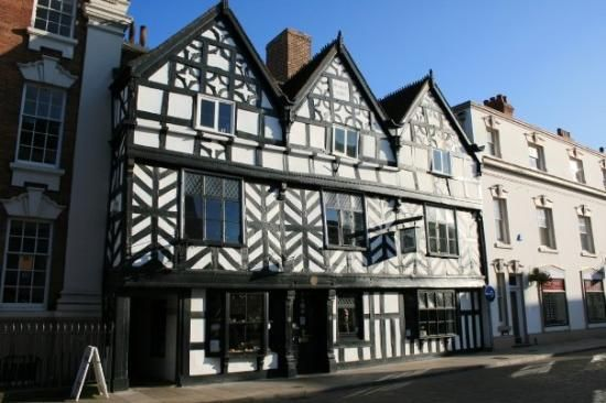Tudor Cafe built 1540 in Lichfield, Staffs