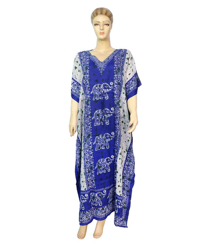 Indian Free Size Party Wear Any Season Dress Beach Cover Up Casual Wear Kaftan  #Unbranded #KaftaanBeachDressMaxi #Casual