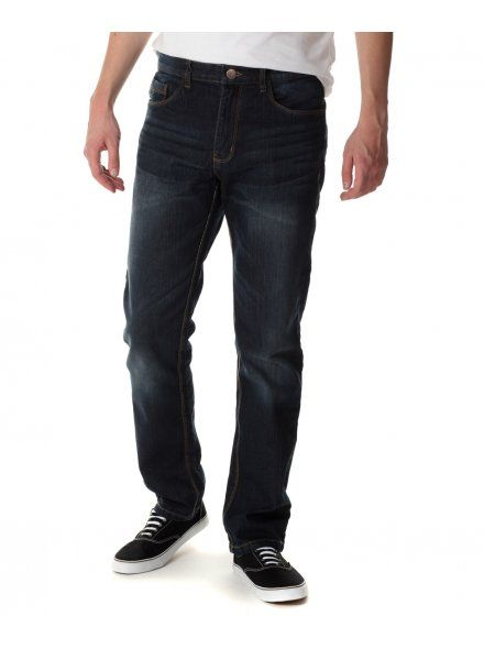 Industrialize Mens Dark Vintage Ricky Straight Fit Jeans