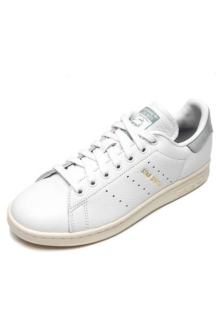 160063efd79 Tênis Couro adidas Originals Stan Smith Pharre Branco Verde - Marca adidas  Originals