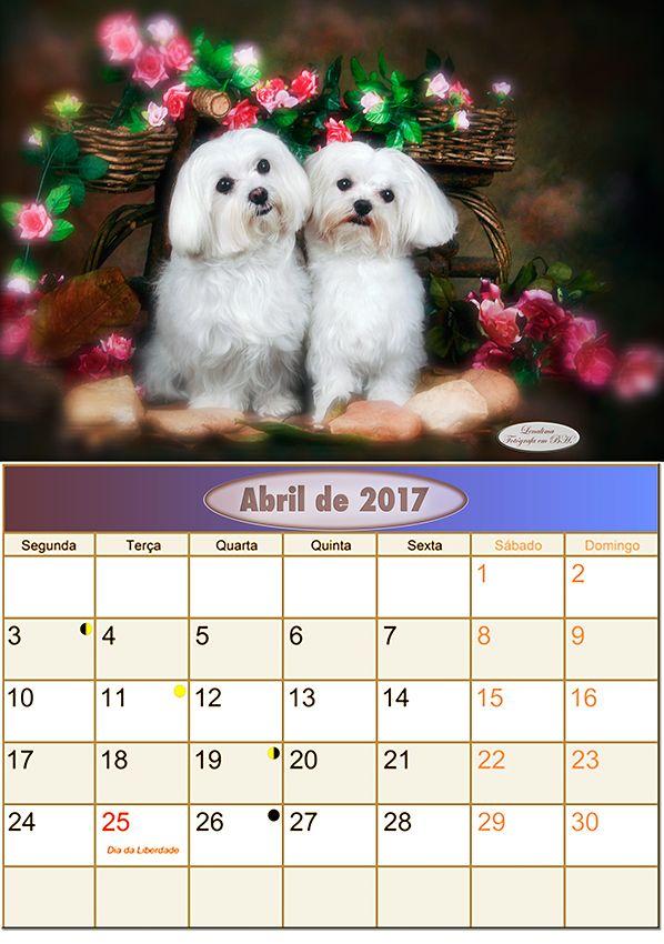 Calendario Abril de 2017