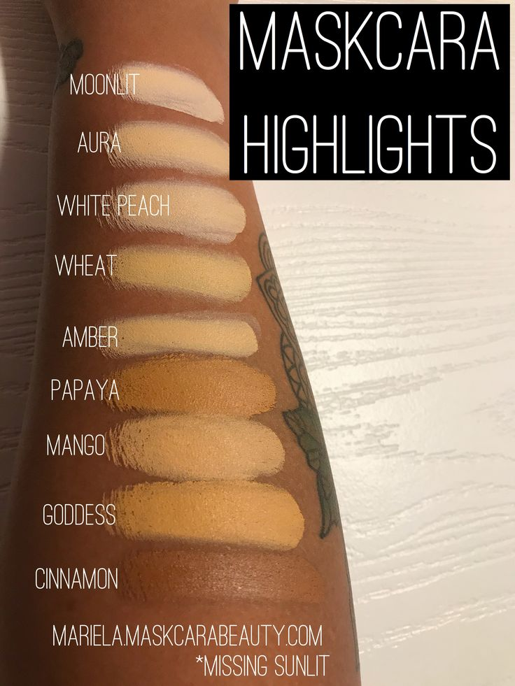 Maskcara Highlight Swatches For Dark Skinned Makeup Lovers