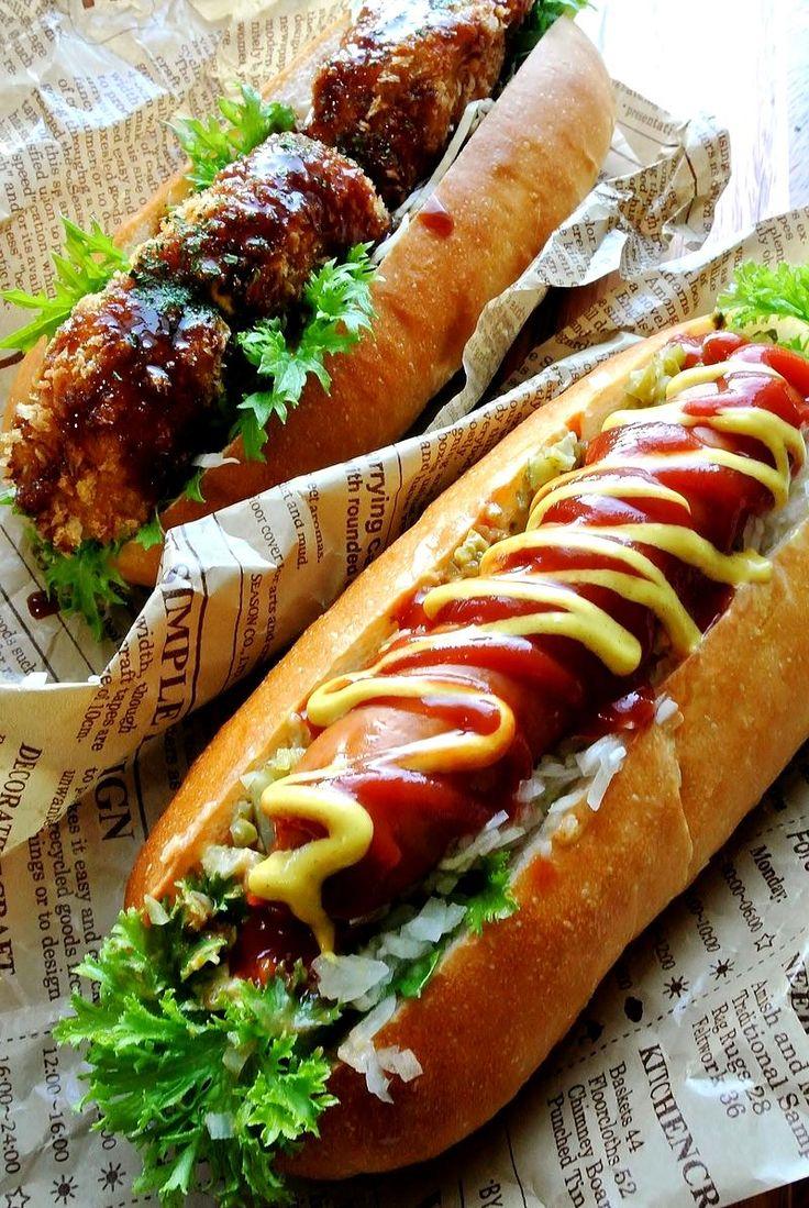 ホットドッグとコロッケパン - どんぴんたんの台所