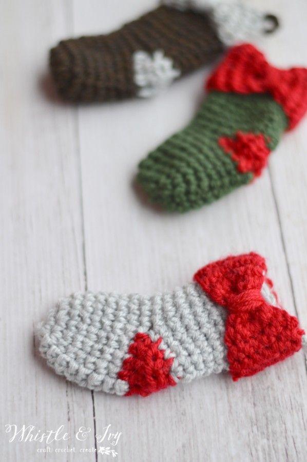 Mejores 49 imágenes de Crochet Christmas Stockings en Pinterest ...