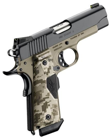 Kimber Pro Covert II 45 ACP 4 Digital Camo with LaserGrips.