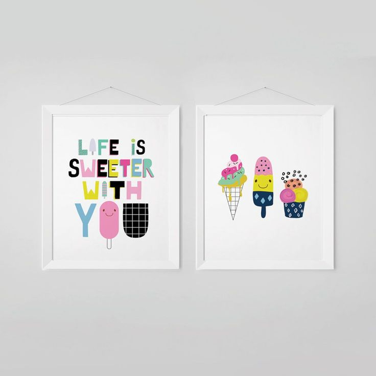 Life Is Sweeter With You Nursery Wall Art