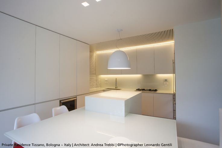 The white gloss ‪#‎Nur‬ is self-evident in this kitchen ! ‪#‎design‬ Ernesto Gismondi ► http://bit.ly/NurGloss