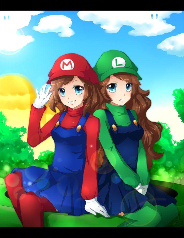 Super Sisters Forever Nintendo Gaming Retro Mario And Luigi Mario Art Cartoon Network Fanart
