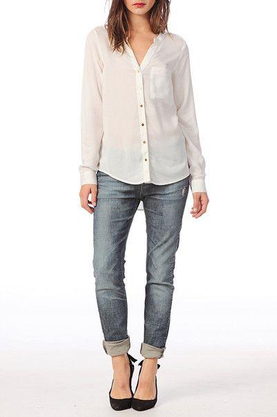Camisa / Blusa - ivar l/s shirt - noos - Blanco / Crudo Vero Moda en MonShowroom.com