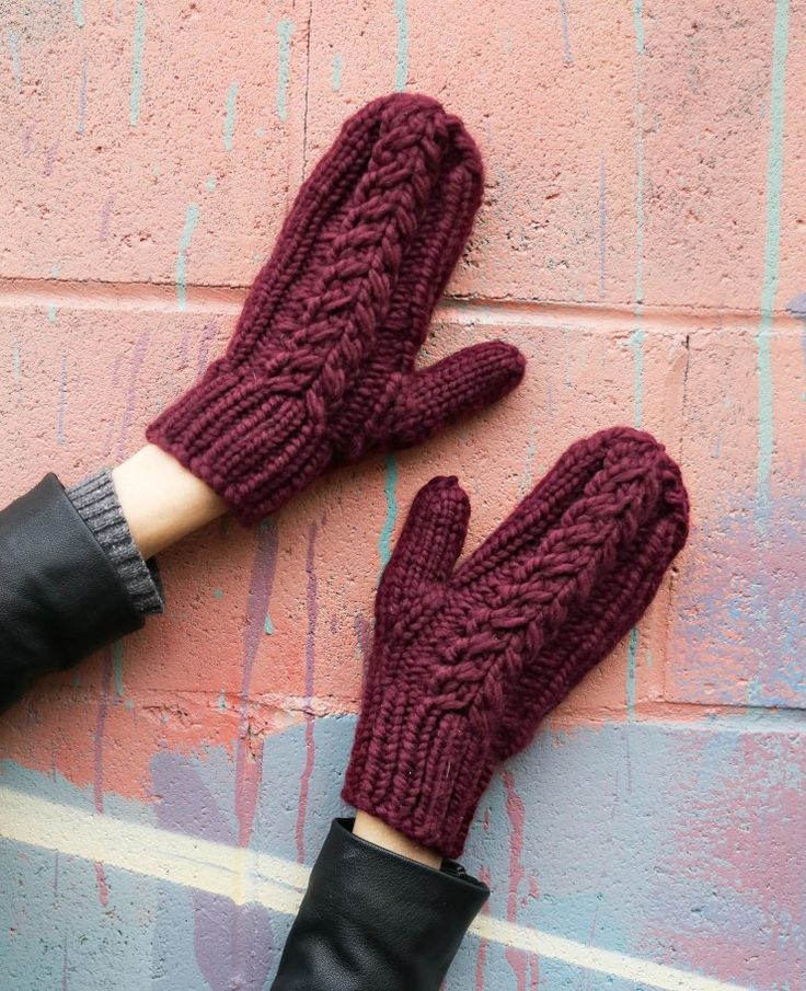 Free Super Quick Knitting Pattern - Hot Chocolate Mittens   - knittedbliss.com