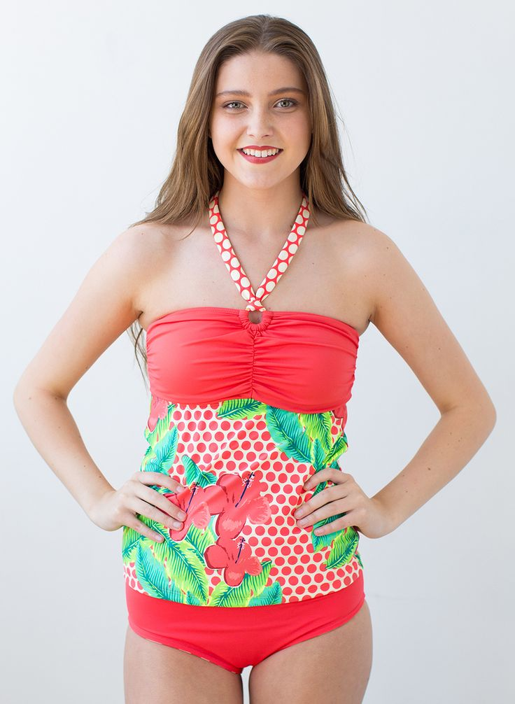 Our Top 10 Must Have Baby Items: Our Tankini Take On The Bandeau Combines Coral Polka Dots