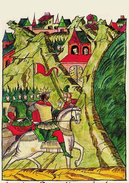 Facial Chronicle-b.11,p.242 - Timur.И пришел в царство некое,имеющее на берегу моря Железные ворота, к-рое было неприступно из-за высоких гор.Имелся туда только один путь,и там был поставлена крепость, охраняющая путь,и врата железные.