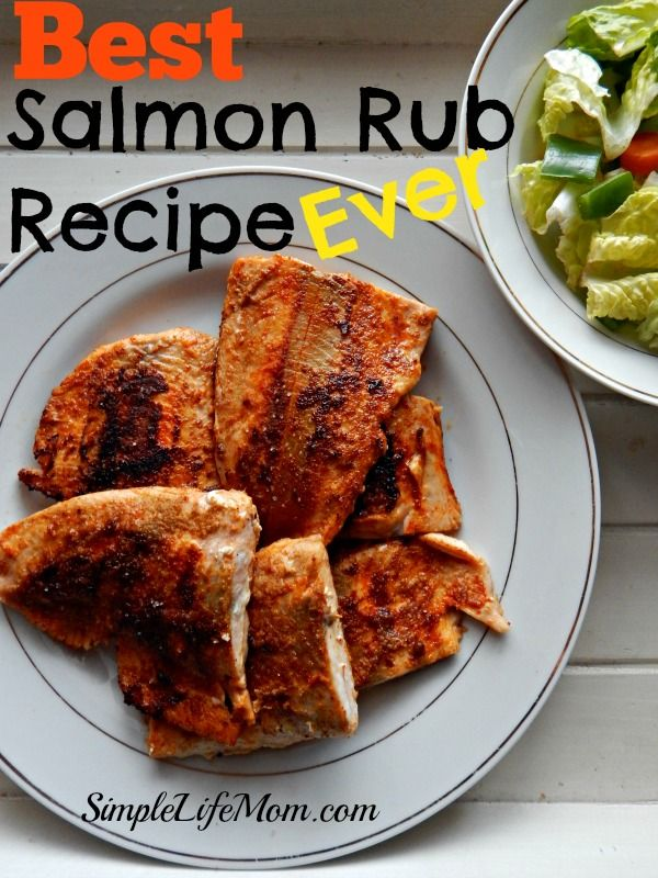 Best Salmon Rub Recipe Ever. A healthy homemade rub with chili powder, cumin, garlic,  and paprika. Serve with lemon juice. A how to cook salmon instructions as well. @SimpleLifeMom