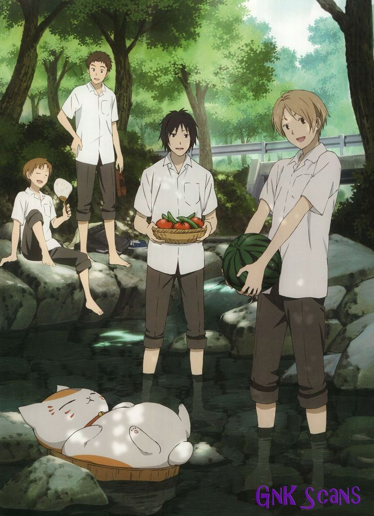 Natsume Yuujinchou ~~ Schoolboys cooling off on a hot summer's day :: Official artwork
