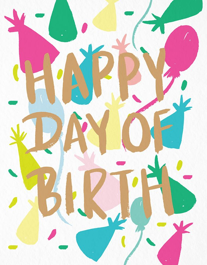 Happy Day Of Birth card by 9th Letter Press on Postable.com