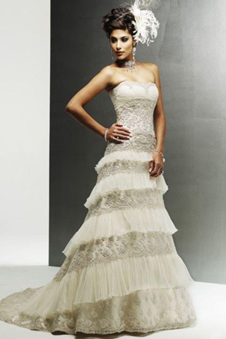 55 besten Wedding Dresses Bilder auf Pinterest | Hochzeitskleider ...