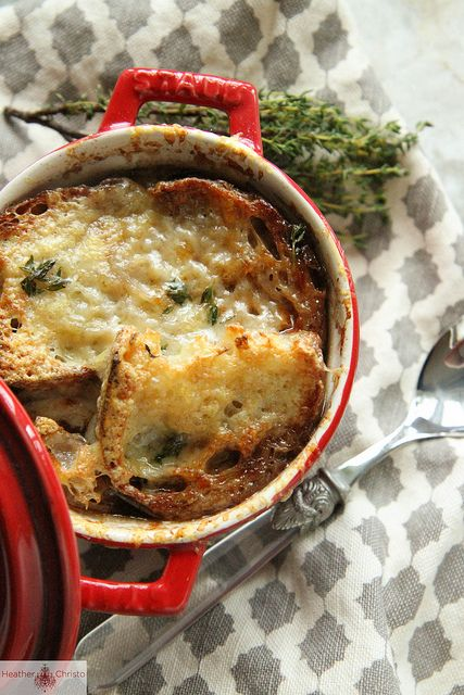 French Onion Soup w/ red wine & gruyere - I made this and it is ...