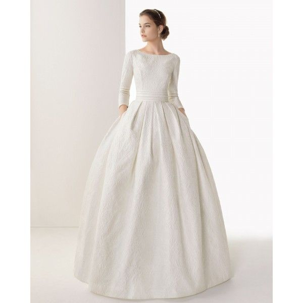 Rosa Clara Long Sleeve Plus Size Wedding Dresses
