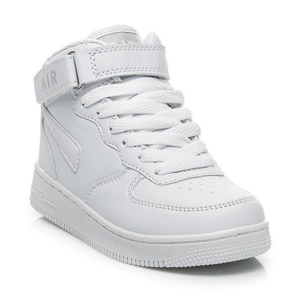 Buty Sportowe Dzieciece Dla Dzieci Badoxx Badoxx Biale Wysokie Trampki Dzieciece Top Sneakers High Top Sneakers Nike Air Force Sneaker