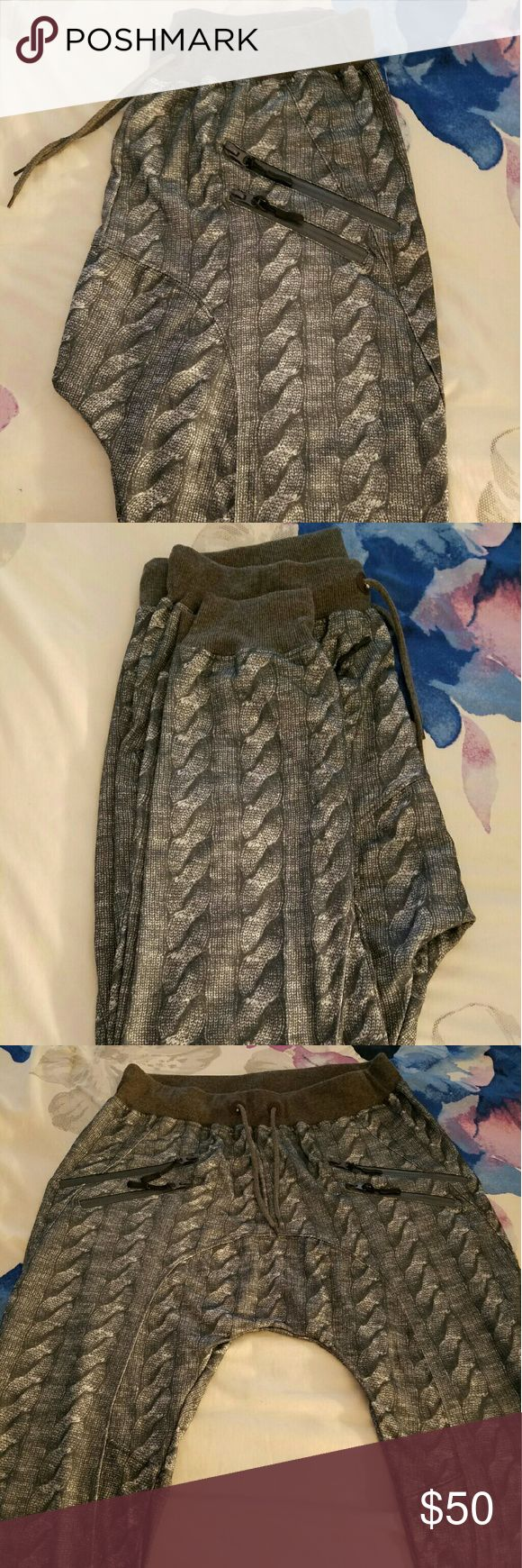 Gray Designed Joggers Cute and fashionable joggers with adjustable string and two pockets! Never worn! American Stitch Pants Track Pants & Joggers