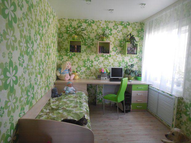 Детская: цветочная комната для девочки 5 лет