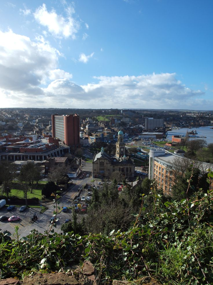 https://flic.kr/p/jFNHQE | Chatham town centre from Fort Amherst [shared]