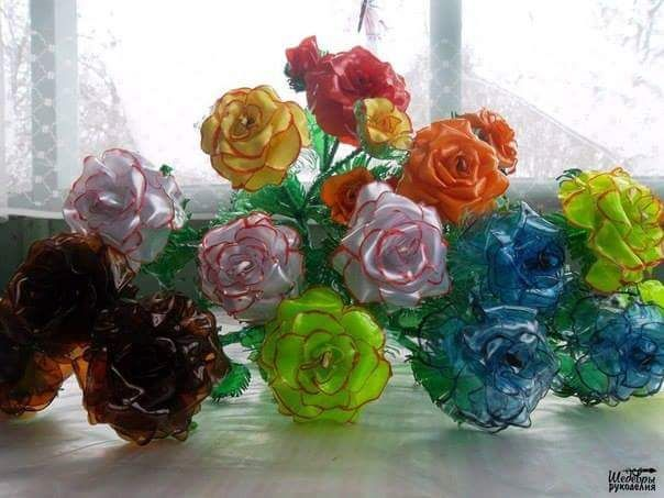 How to make beautiful flowers from plastic bottle | Crazzy Craft