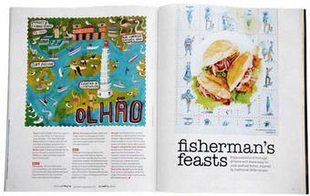 O chef britânico dedica  em agosto  12 páginas da sua revista à comida honesta do Algarve