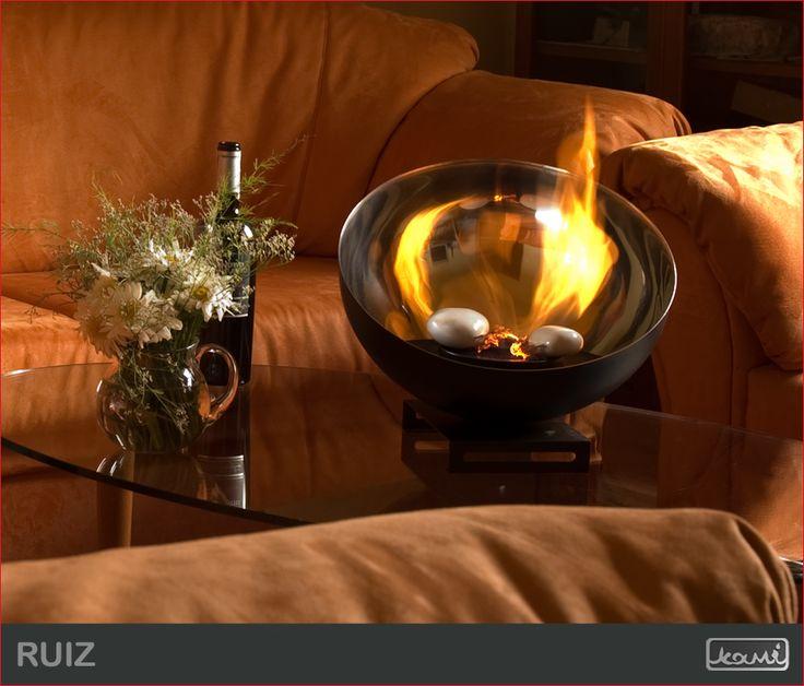 Przytulnie i ciepło. Dekoracja stołu. #mieszkanie #biokominek #kominki #dom #aranzacje #salon