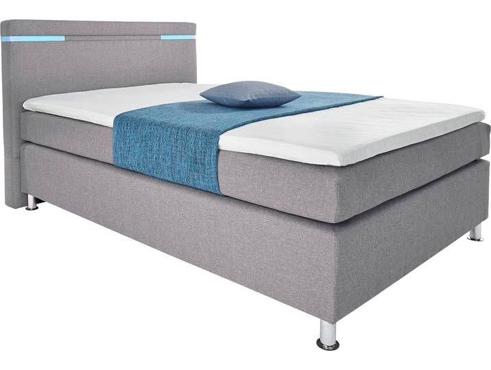 Hapo Boxspringbett 140x200 Cm Grau Bed Lights Bed Bed Springs