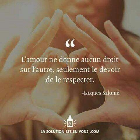 Jacques Salomé Amour respect
