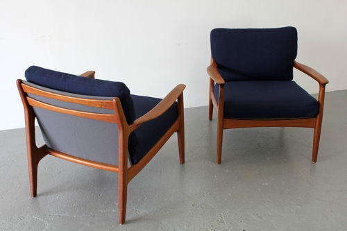 Teak Sessel aus 2er Set | Made in Denmark | Danish Teakwood Easy Chair No 2 of 2