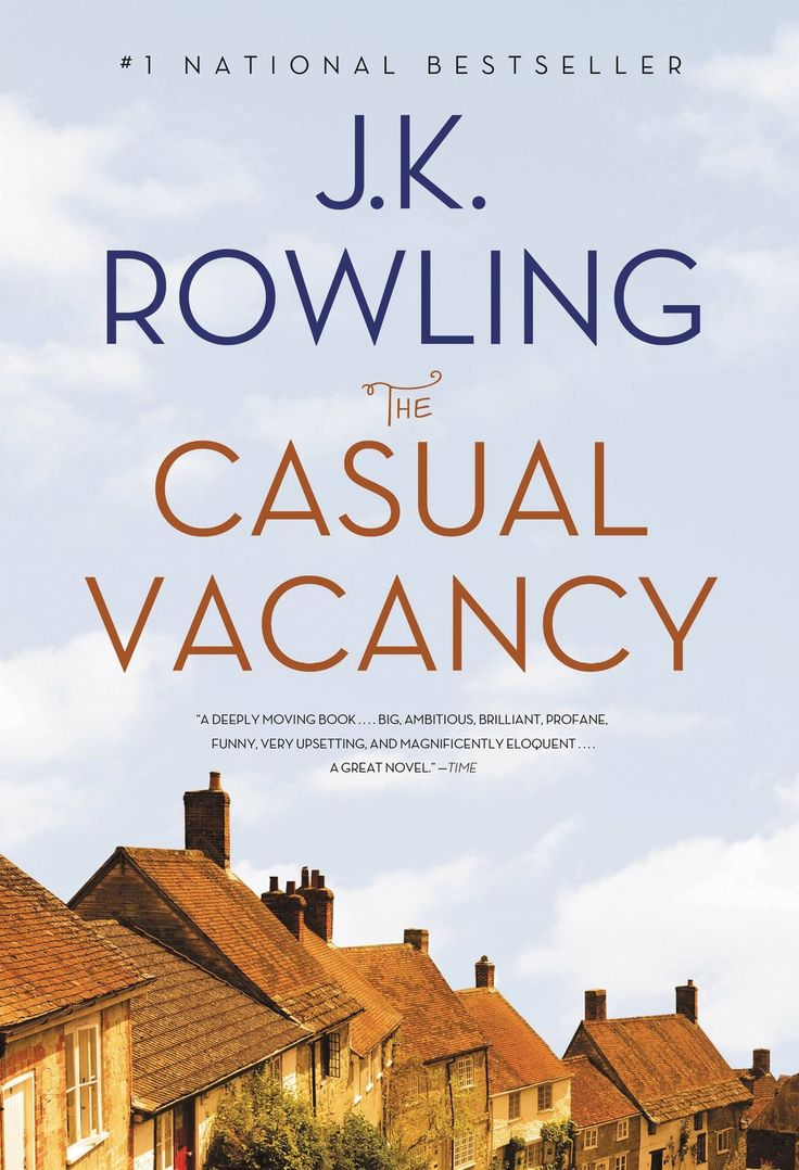 The Casual Vacancy by J.K. Rowling. Design by Rebecca Lown.