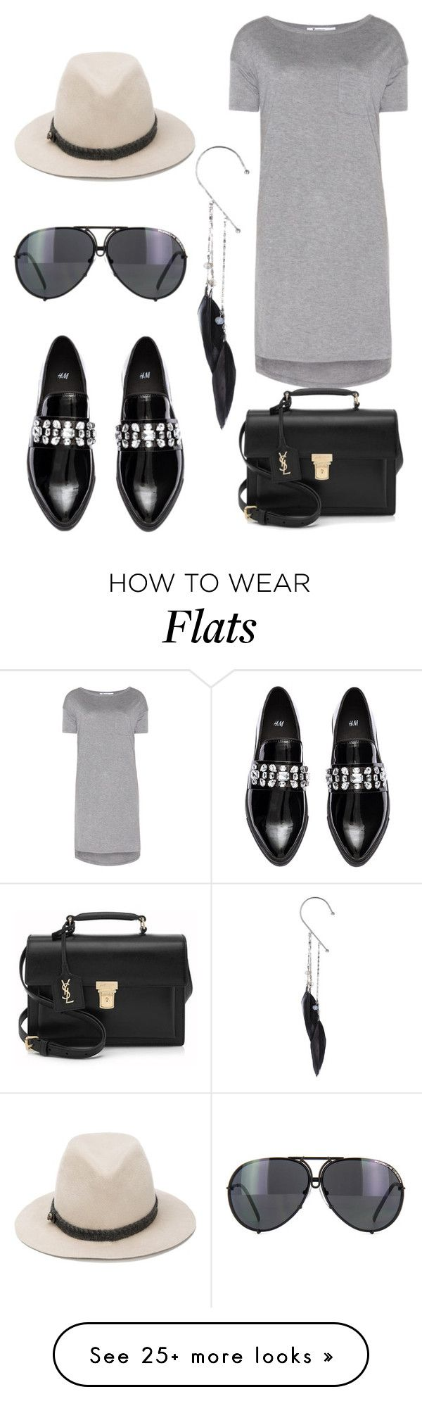 """""""Rock chic"""" by yalda-gilantash on Polyvore featuring moda, T By Alexander Wang, House of Lafayette, H&M, Yves Saint Laurent, Topshop e Porsche"""