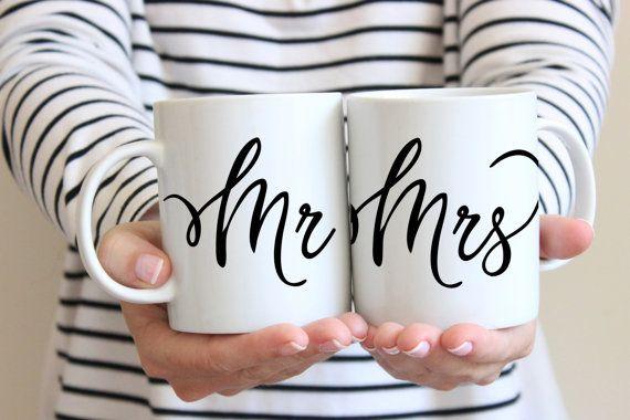 Herr und Frau Kaffeebecher  süße Kaffeetasse paar von SushiandQueso