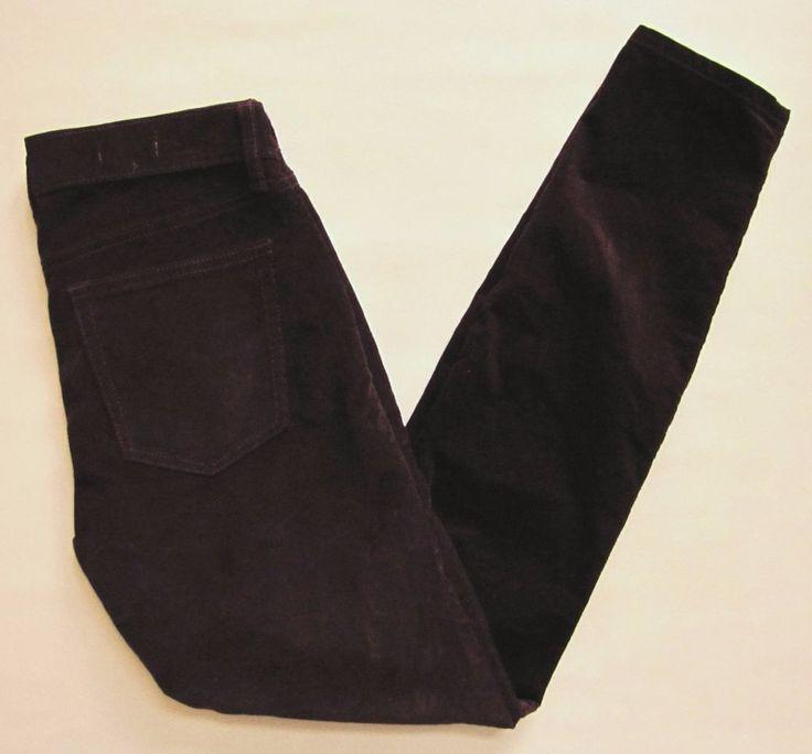 "Gap 1969 Legging Cord Jeans Skinny Corduroy Pants 26 2 Vamp Red Burgundy 29"" #GAP #Corduroys"