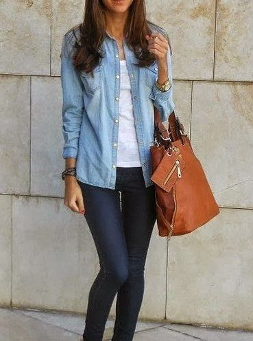 1. Chambray Button Up | Community Post: 23 Clothing Items Every College Girl Should Own