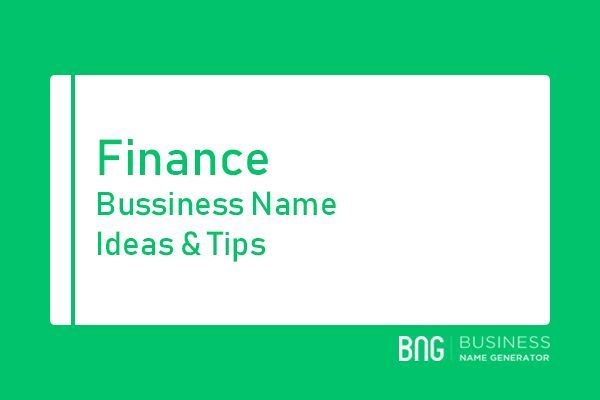 Finance And Insurance Business Name Generator Business Name