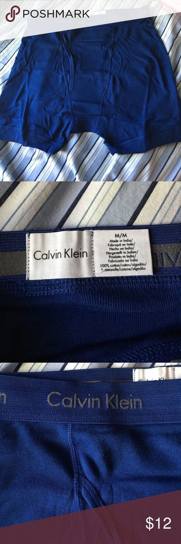 New Calvin Klein Boxer Briefs New pair, just bought the wrong size! Needs a new home!💜wrinkly because it's been stored and not used. Calvin Klein Underwear Underwear & Socks Boxer Briefs