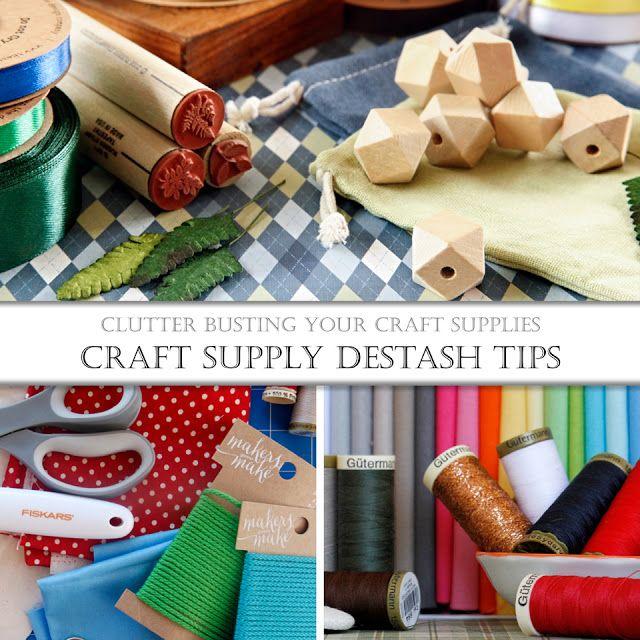 Clutter Busting Craft Supply Destash and Organisation Tips