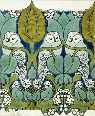 owl pattern detail