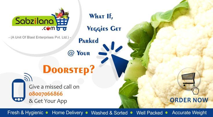 Vegetables and Fruits just a click away..  #Nagpur #Online #Vegetables #Fruits #Sabzilana