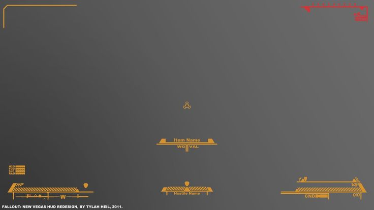 Fallout New Vegas HUD Redesign by TybeeFox