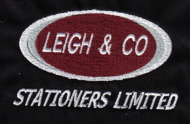 Leigh & Co Stationers embroided logo