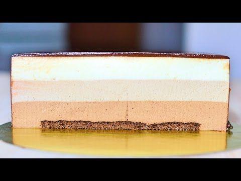 Шоколадный муссовый торт с зеркальной глазурью / Chocolate Mousse Cake with Mirror Glaze - YouTube