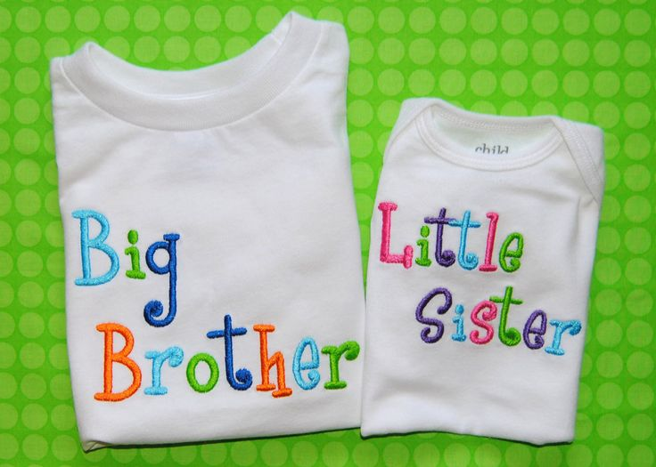 big brother and little sister shirts $14.00 each