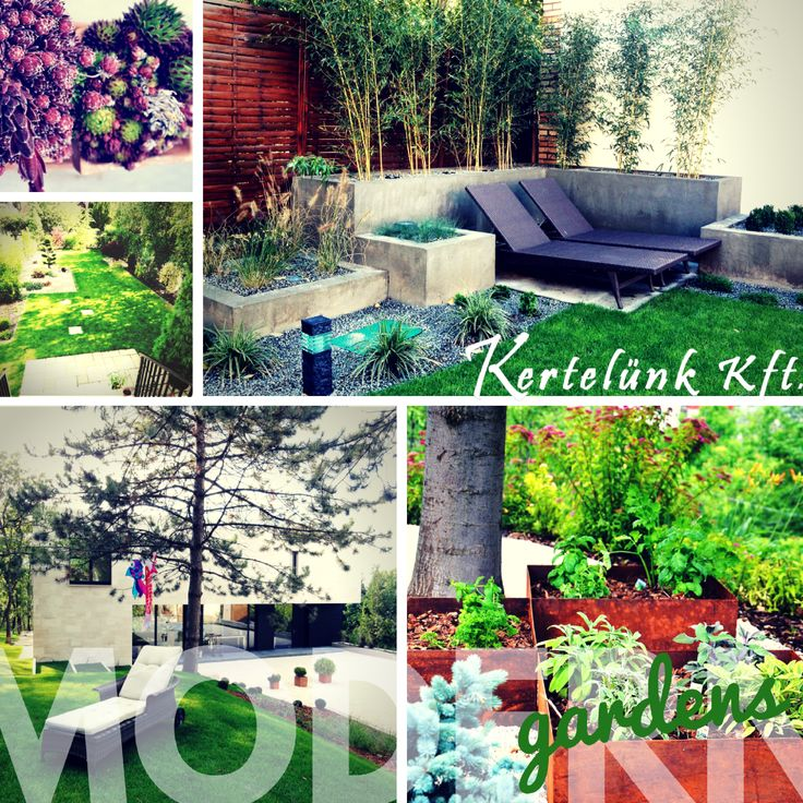 Simán: modern kertek - modern gardens in Hungary #modern #gardens #kertek