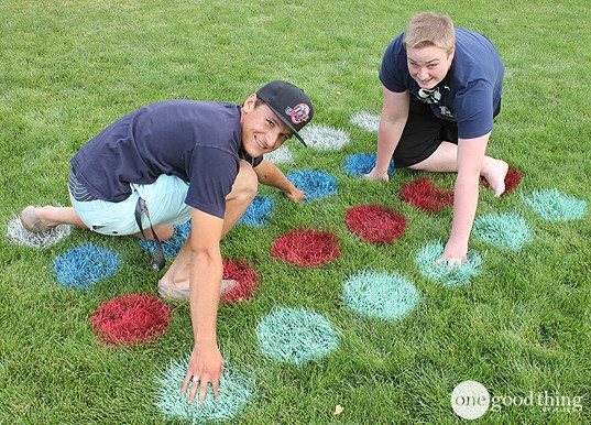 Turn your lawn into a Twister board.